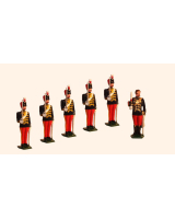 0034b Toy Soldiers Set Officer with five Troopers The 11th Hussars Prince Albert's Own Painted