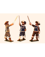 0351 Toy Soldiers Set The Three Musketeers Painted