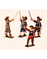 0352 Toy Soldiers Set The Three Musketeers and d'Artagnan Painted