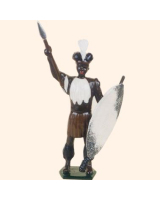 0502 Toy Soldier Set Zulu Warrior Painted