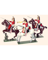 0733 Toy Soldiers Set The 6th Inniskilling Dragoons Painted