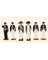0074 Toy Soldiers Set Admiral Lord Nelson with Crew 1805 Painted