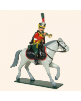 0756C Toy Soldiers Set Trumpeter French Hussars Painted