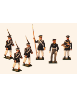 0777 Toy Soldier Set Prussian Landwehr Infantry Napoleonic War Painted
