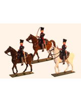 0778 Toy Soldier Set Landwehr Cavalry Prussian Napoleonic War Painted