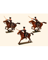781 Toy Soldier Set Landwehr Prussian Dragoons Napoleonic War Painted