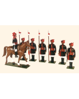 0080 Toy Soldiers Set 25th Cavalry Frontier Force 1910 Painted