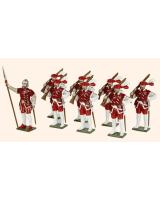 MR1 Toy Soldiers Set English Arquebusiers Henry VIII's Army Painted