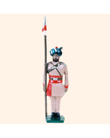 0044 3 Toy Soldier Lancer at attention Kit