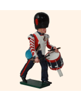 0111 2 Toy Soldier Drummer Marching Coldstream Guards Kit