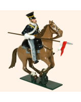0114 2 Toy Soldier Trooper lance down, sitting up, Horse leg together Kit
