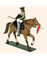 0114 1 Toy Soldier Trooper lance down, lean forward, Horse leg stretched out Kit