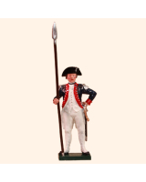 0250 1 Toy Soldier Officer holding spontoon Kit