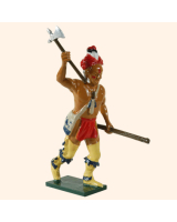 0609 5 Toy Soldier Warrior rasing his hand with an axe Allies Kit