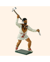 0609 6 Toy Soldier Warrior with shirt rasing his hand with an axe British Allies Kit