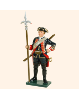 0618 2 Toy Soldier Sergeant with linstock Royal Artillery 1750 Kit