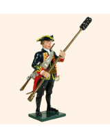 0618 3 Toy Soldier Gunner with ramrod Royal Artillery 1750 Kit