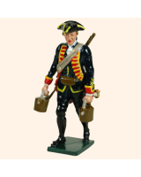 0618 4 Toy Soldier Gunner with buckets Royal Artillery 1750 Kit