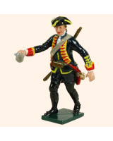 0618 5 Toy Soldier Gunner with powder horn Royal Artillery 1750 Kit