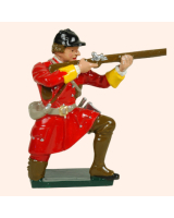 0619 5 Toy Soldier Private Kneeling Firing British Light Infantry Kit