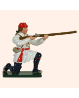 0621 4 Toy Soldier Private Kneeling Firing Compagnies Franches de la Marines Kit