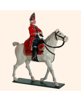 0656 1 Toy Soldier Mounted Officer Scots Grey Kit