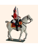 0656 2 Toy Soldier Mounted Trooper Scots Grey Kit