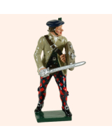 0681 3 Toy Soldier Highland Clansman sword down with trousers Kit