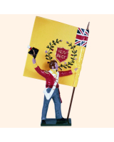 0706 4 Toy Soldier Ensign with Regimental Colour Kit