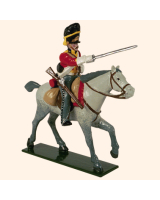 0727 1 Toy Soldier Trooper, Horse leg stretched out Kit