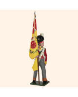 0737 3 Toy Soldier Ensign with Regimental Colour Kit
