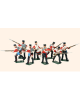 101 British Infantry Toy Soldiers Set Painted