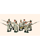 102 Russian Infantry Toy Soldiers Set Painted