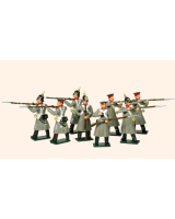 104 Russian Infantry Toy Soldiers Set Painted