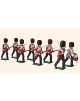 112 Coldstream Guards Advancing Toy Soldiers Set Painted