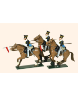 114 - 17th Lancers Toy Soldiers Set Painted