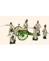 116 Russian Artillery Toy Soldiers Set Painted