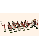 0055 Toy Soldiers set British Napoleonic Band 20 figures Painted