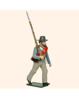 0554 Toy Soldier Set Confederate Infantryman Marching Painted