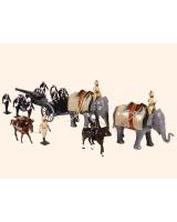 059 Toy Soldiers Set Royal Artillery Elephant Battery India 1890 Painted