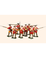 602 Toy Soldiers Set British Infantry Painted