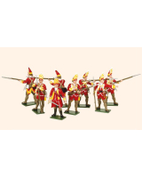 604 Toy Soldiers Set British Grenadiers Painted