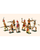 0609 Toy Soldiers Set American Woodland Indians Painted