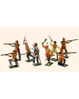0610 Toy Soldiers Set American Woodland Indians Painted