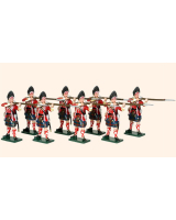 616 Toy Soldiers Set Grenadier Company 42nd Highland Regiment of Foot Painted