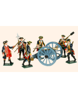618 Toy Soldiers Set Royal Artillery 1750 Painted