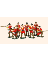 619 Toy Soldiers Set British Light Infantry Painted