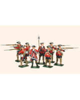 622 Toy Soldiers Set The Royal American Regiment Painted