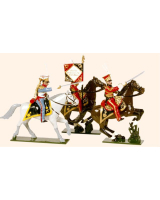 0703 Toy Soldiers Set Dutch Lancers Painted