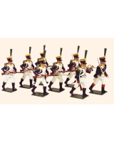 0725 Toy Soldiers Set French Line Infantry Voltigeurs advancing Painted
